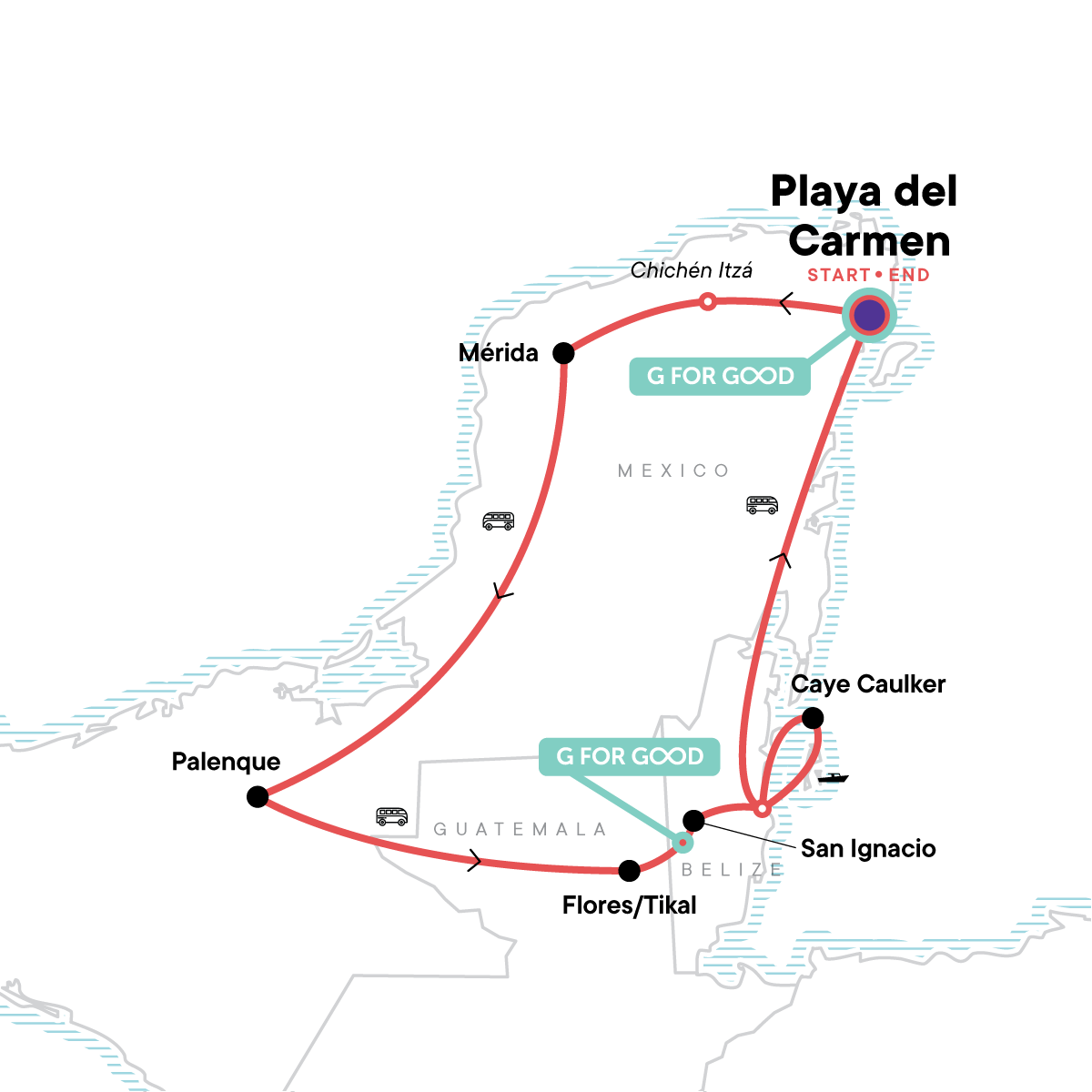 Mayan Discovery Map