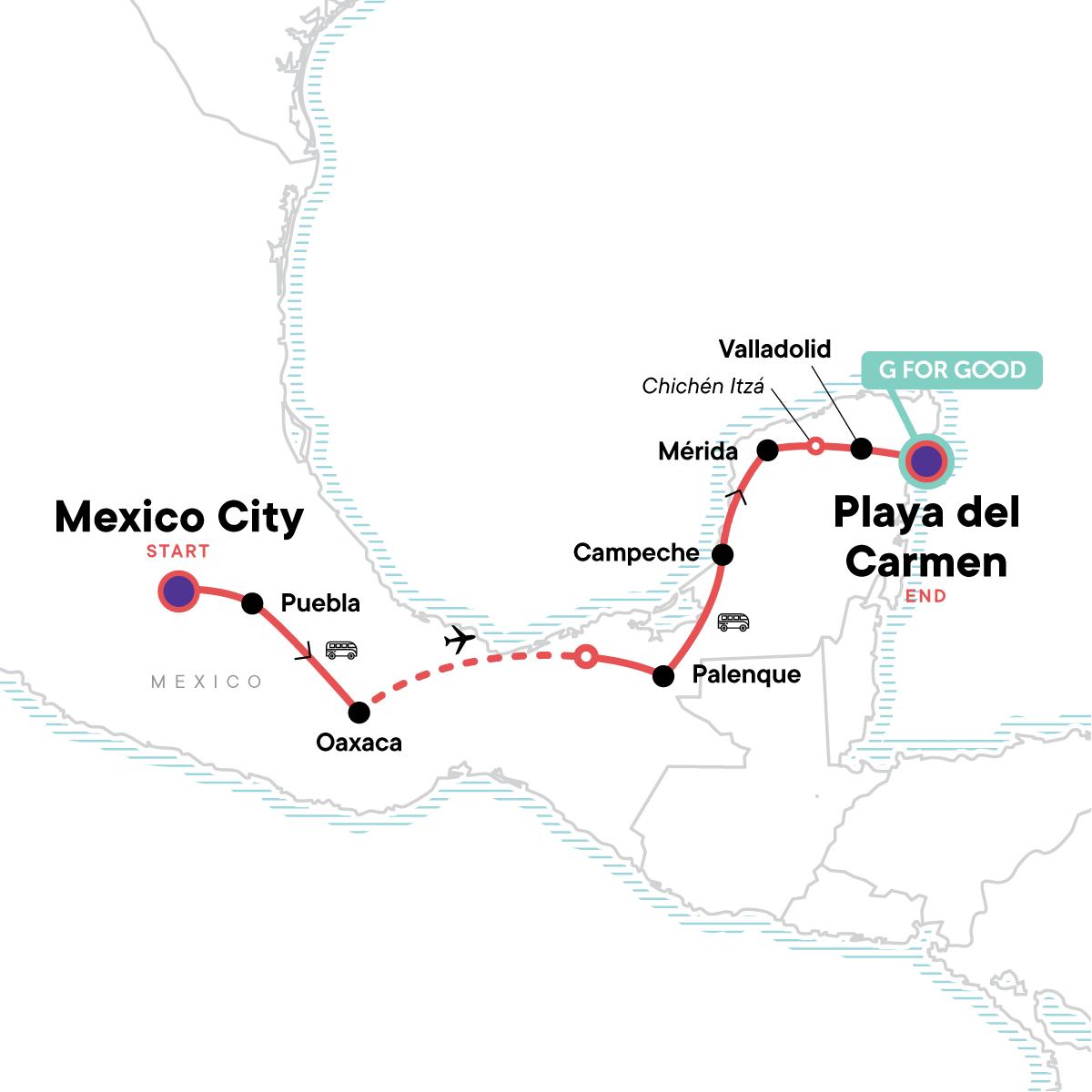 Classic Mexico Adventure Map