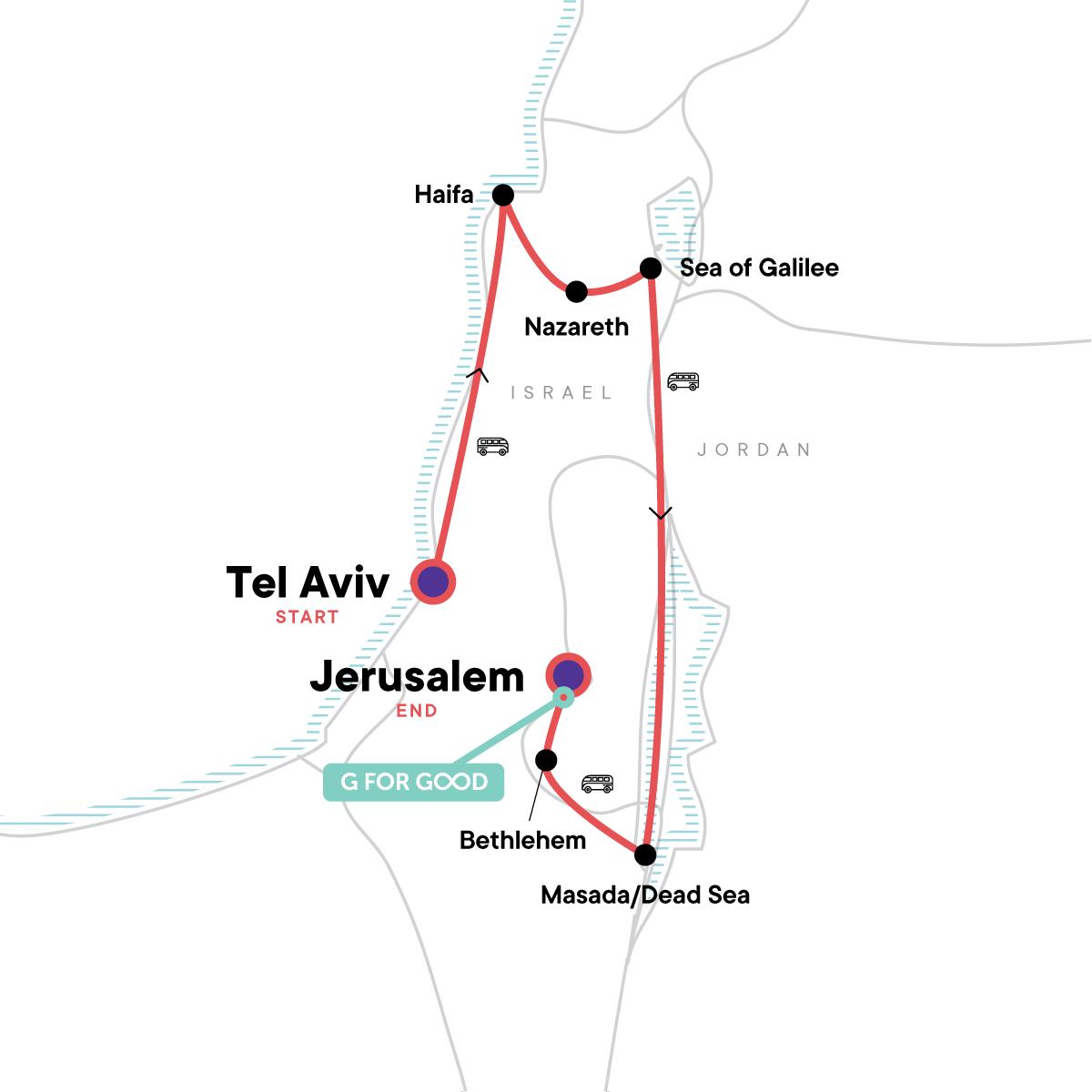 Israel Explorer Map