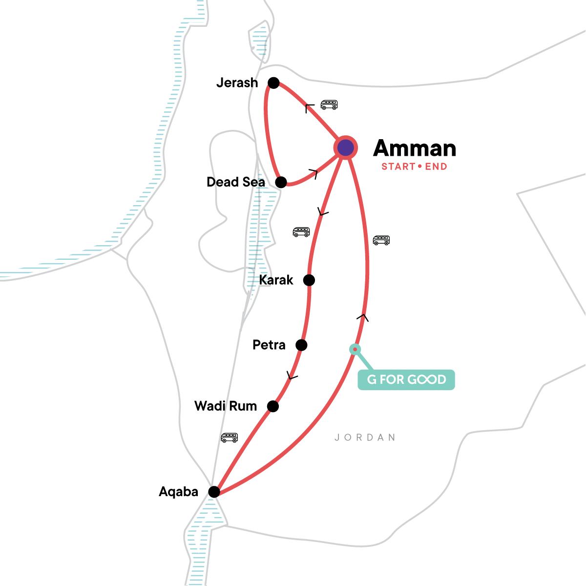 Highlights of Jordan Map