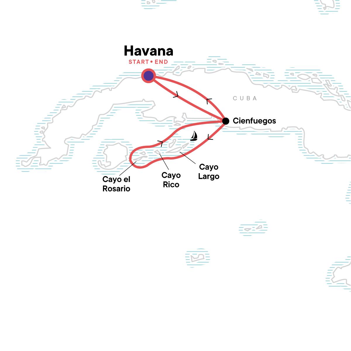 Sailing Cuba Map