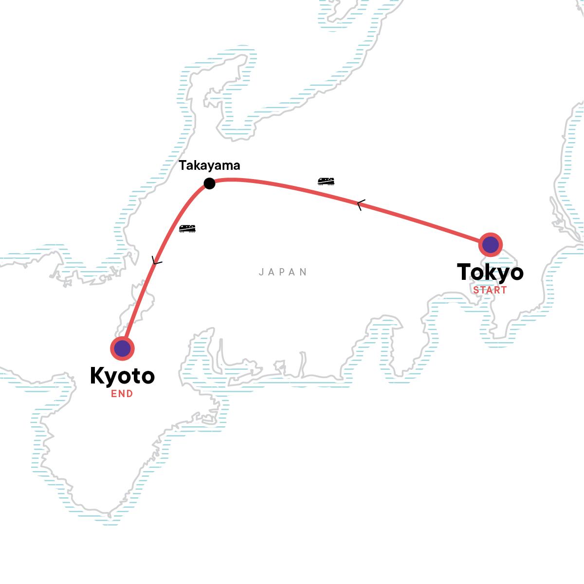 Japan: Ramen & Railways Map