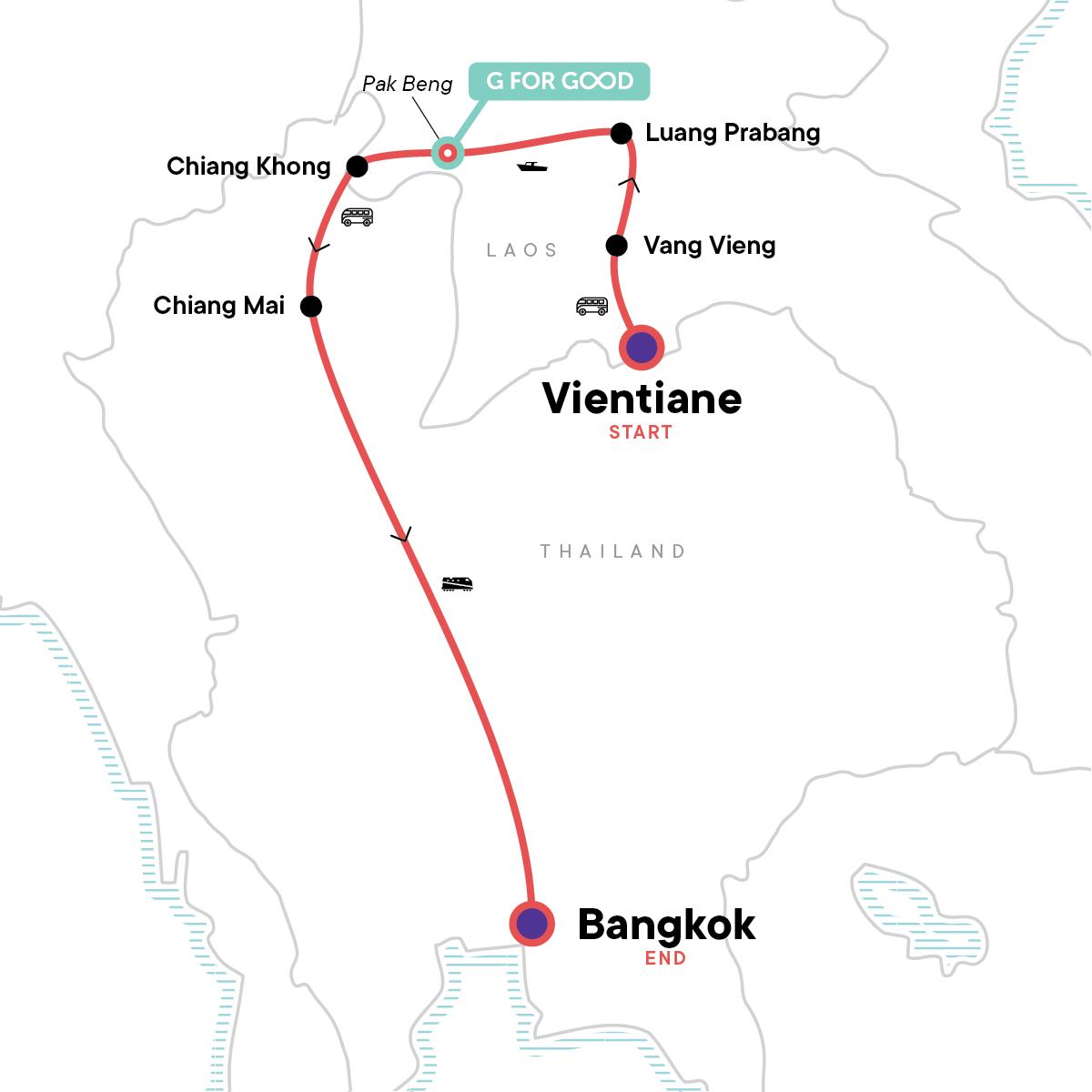 Laos & Thailand: Tuk-Tuks & Thai Curry Map