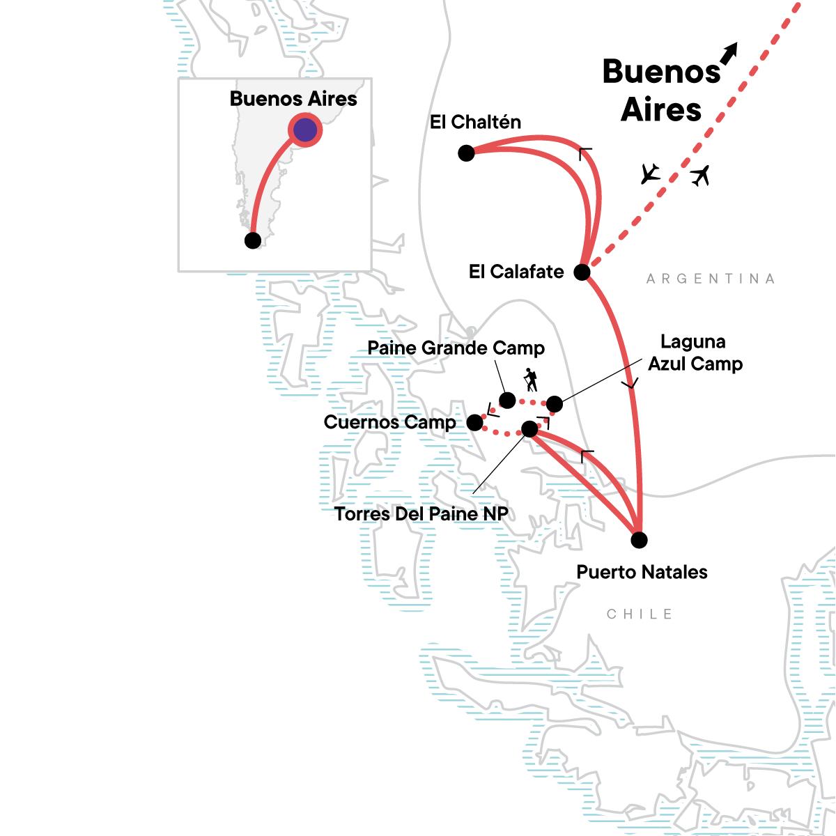 Hike Patagonia In Depth Map