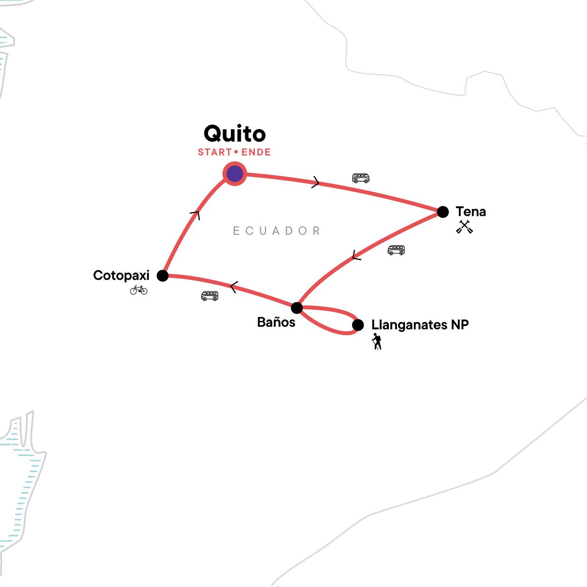 Ecuador Multisport Map