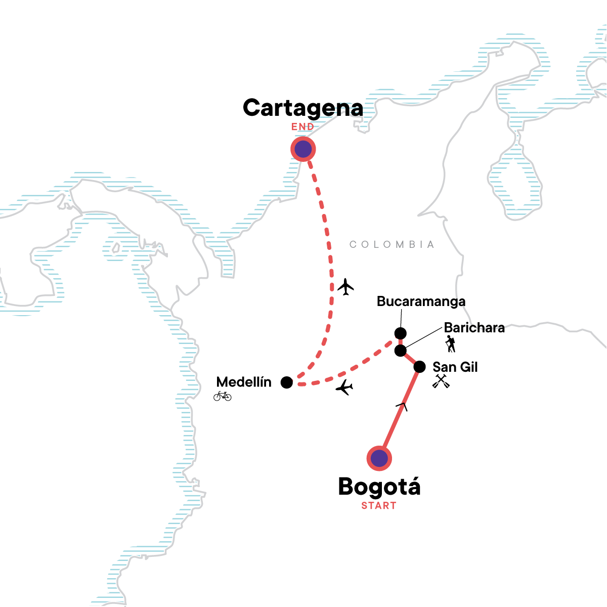 Colombia Multisport Map