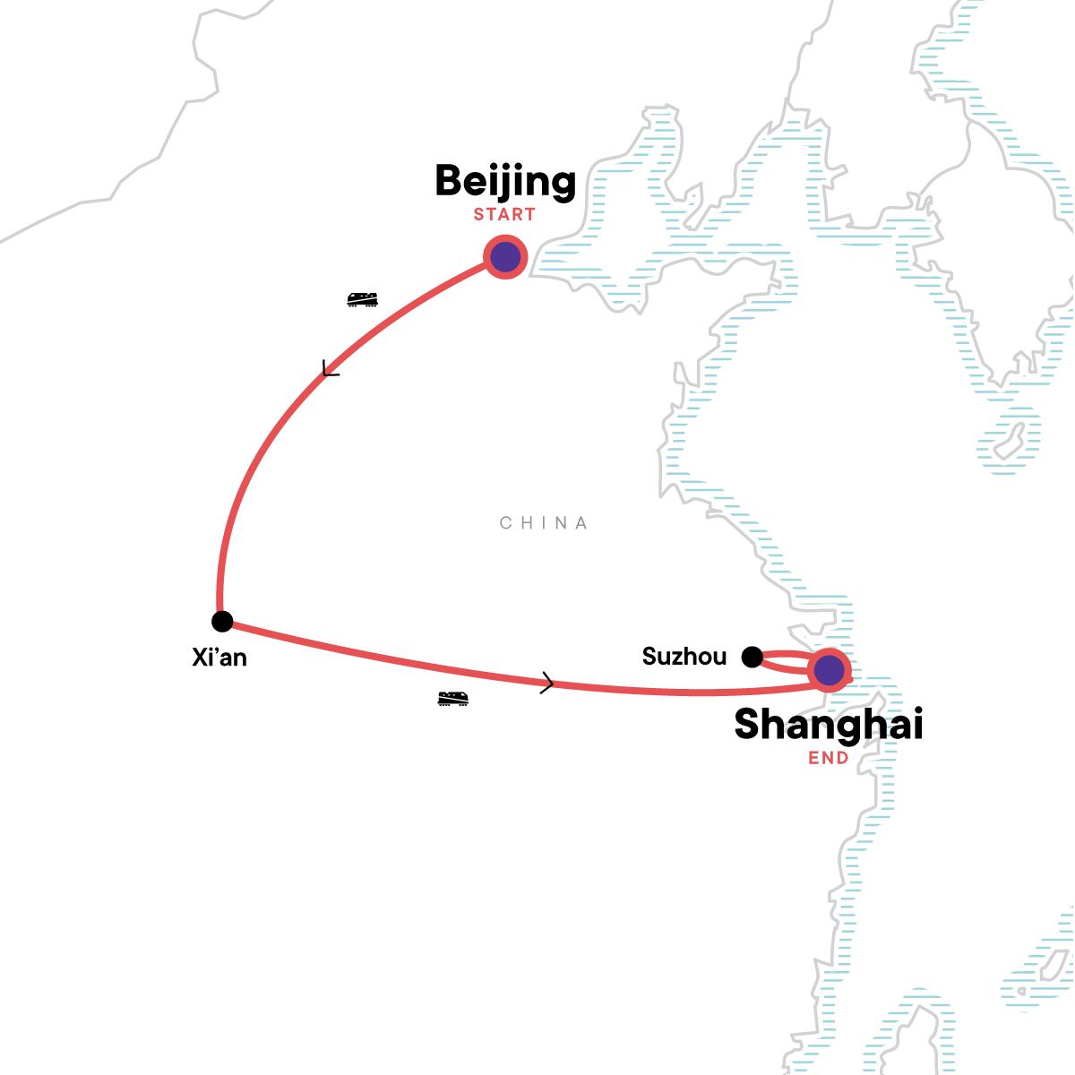 China Express Map