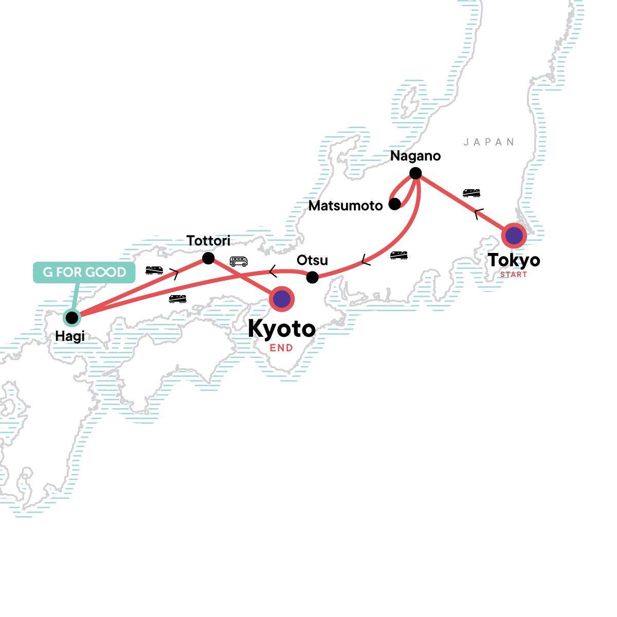 Back Roads of Japan Map