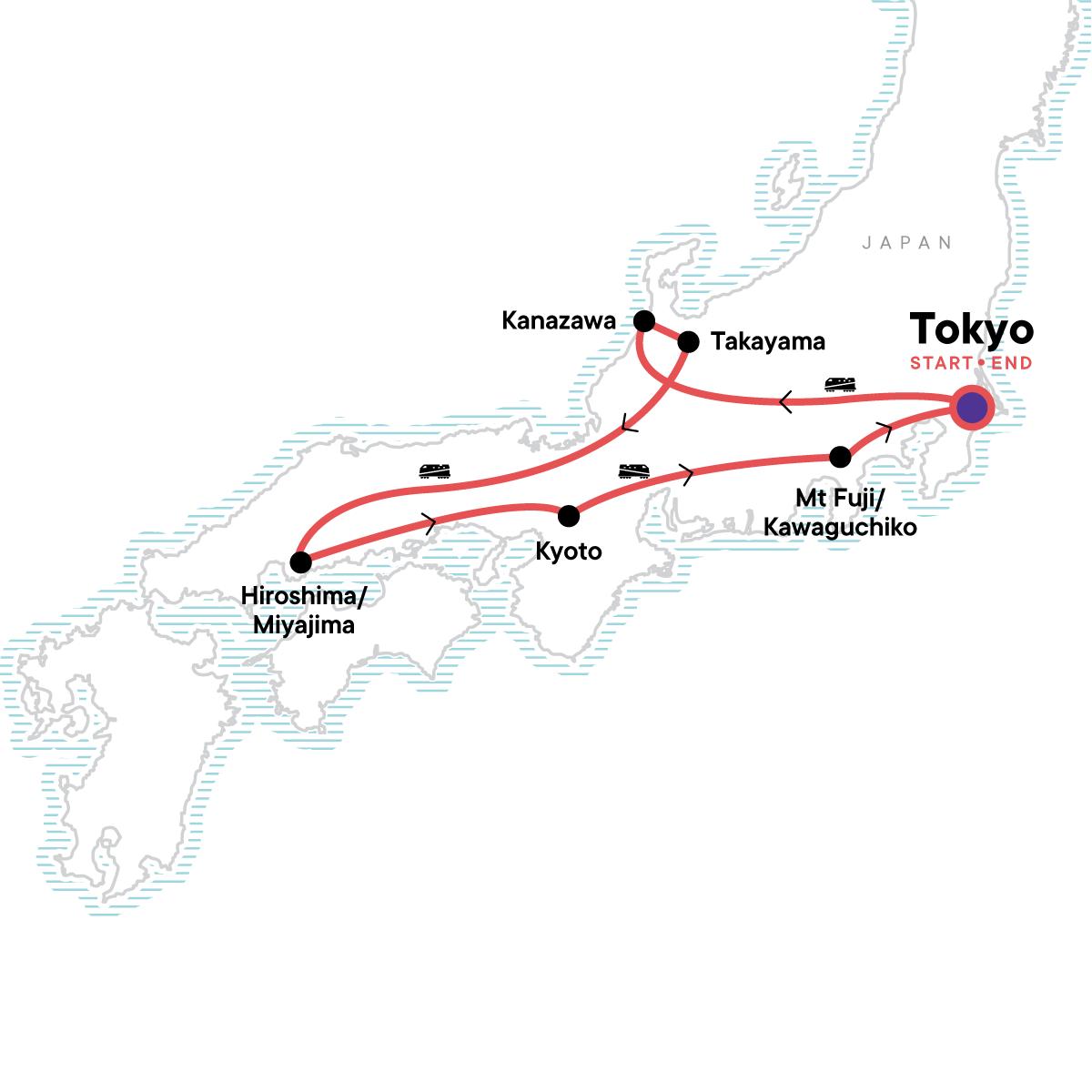Discover Japan & Hike Mt Fuji Map