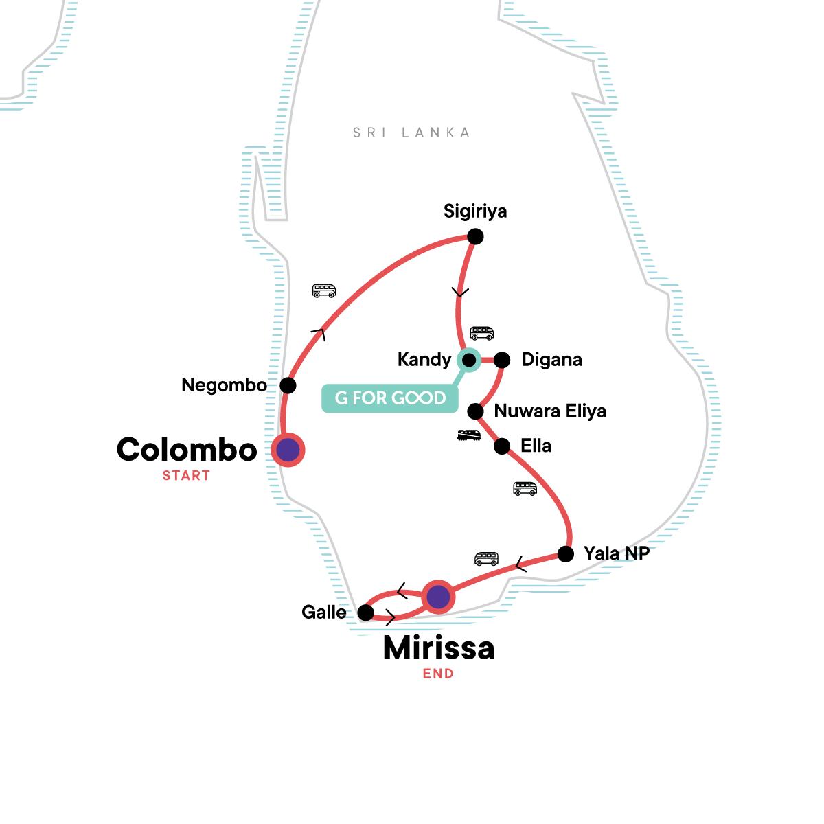 Sri Lanka Encompassed Map