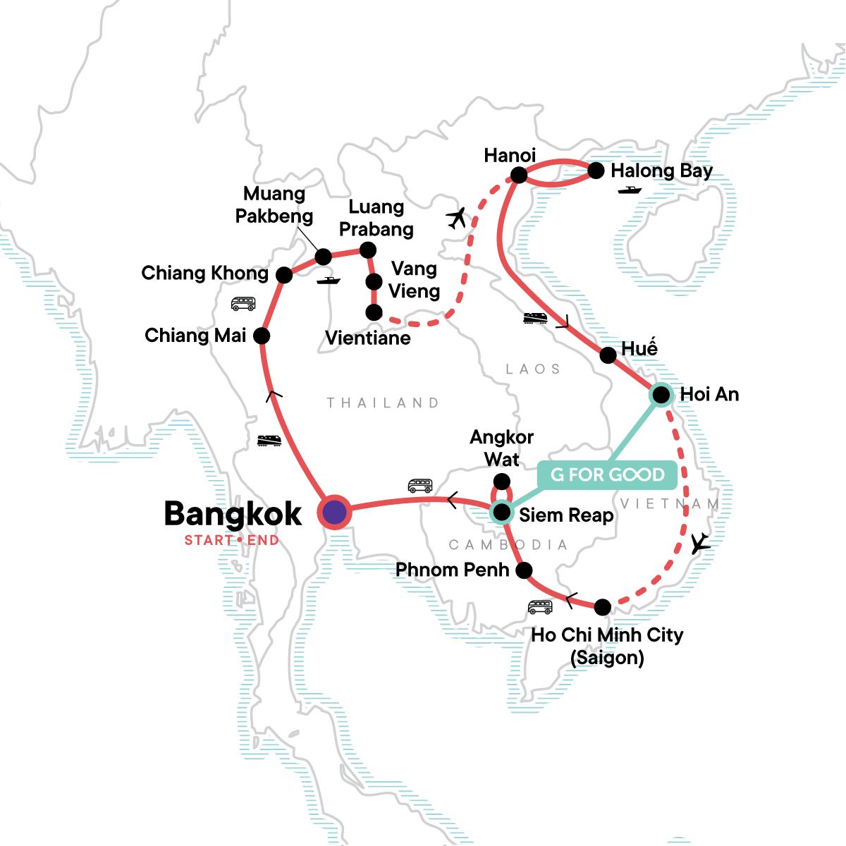 Indochina Encompassed Map