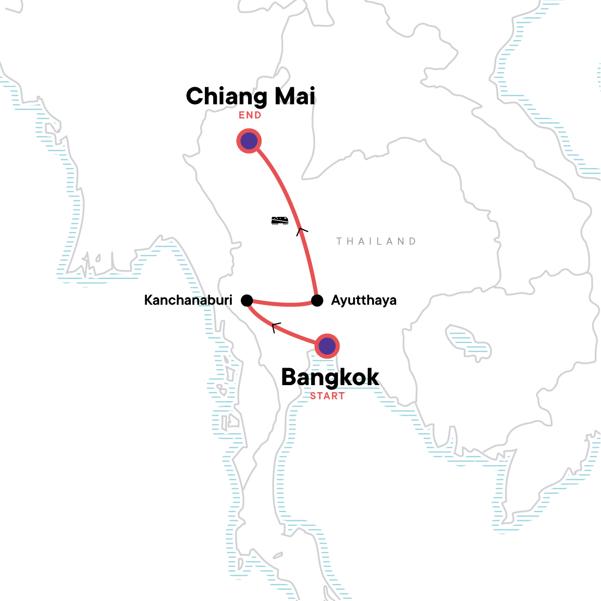 TailorMade Thailand: Northern Express Map
