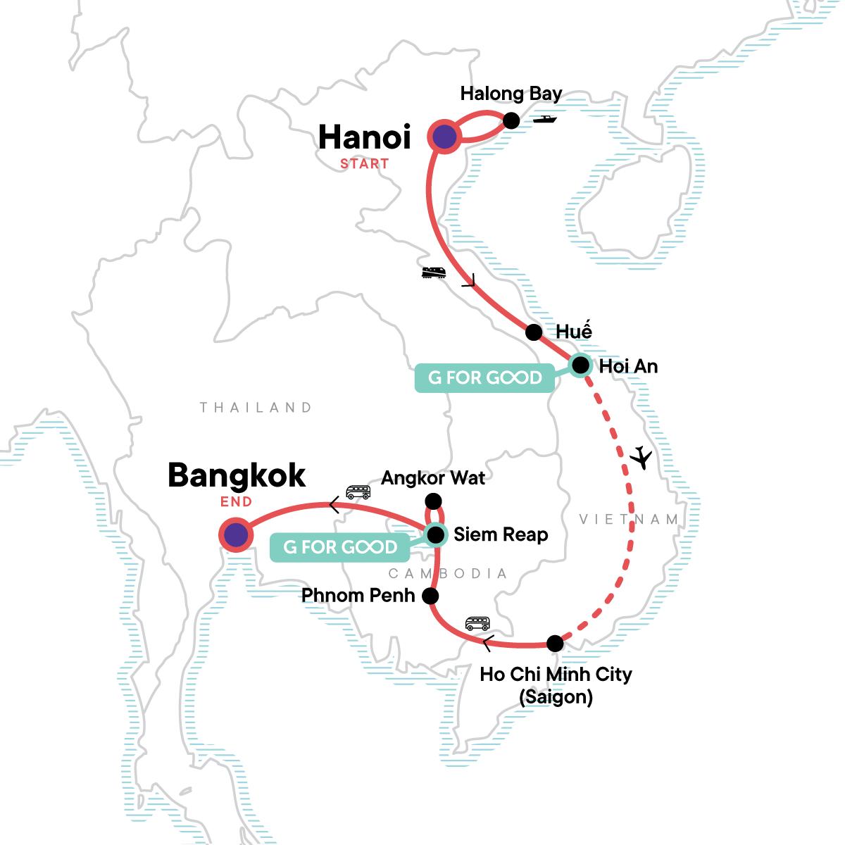 Essential Vietnam & Cambodia Map