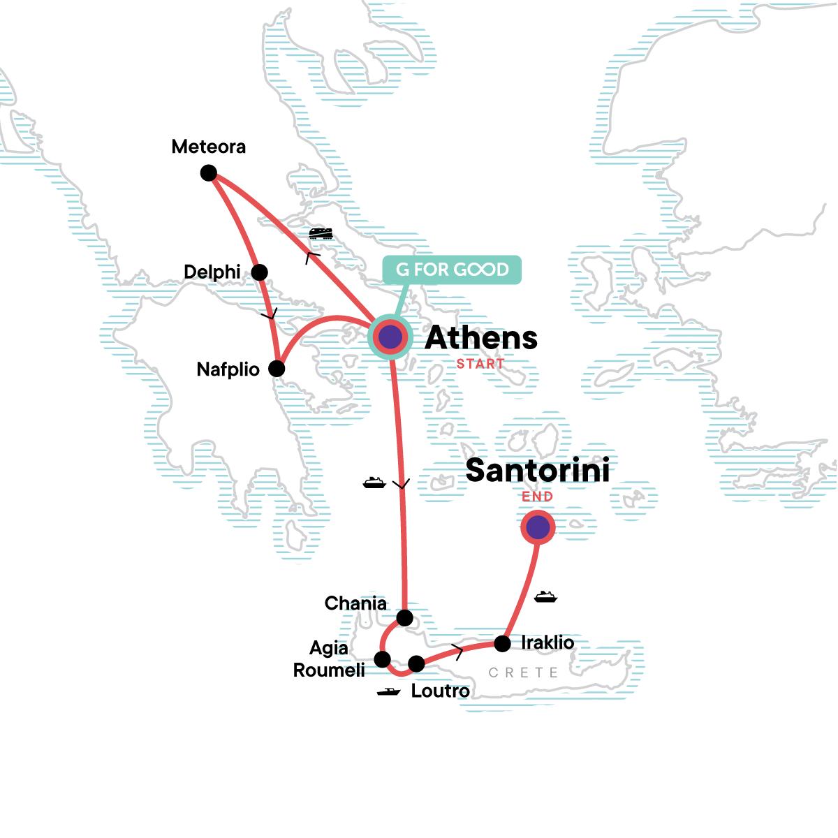 Best of Greece Map