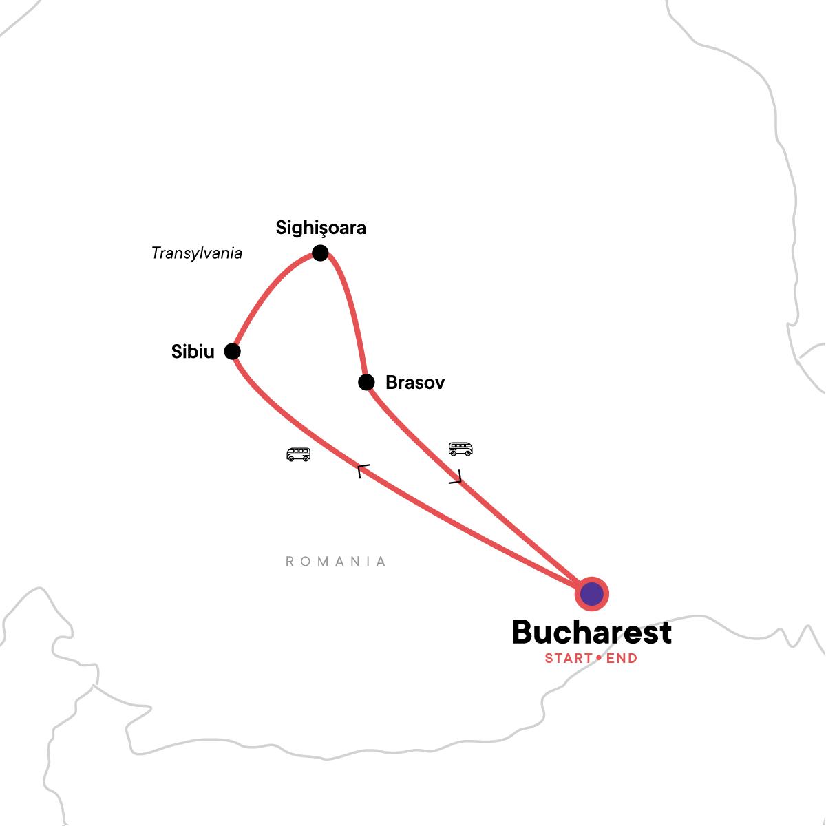 Halloween in Transylvania Map