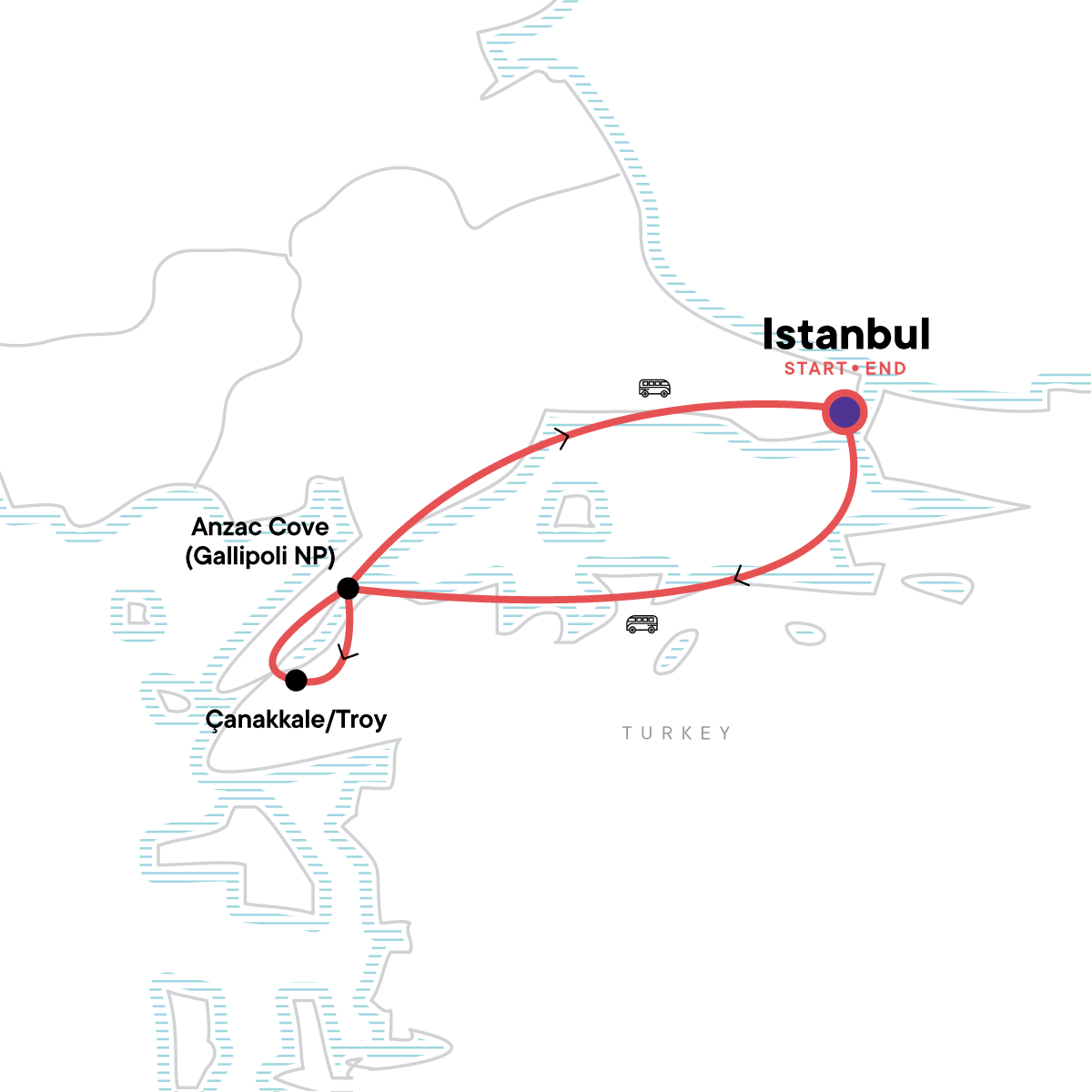 ANZAC Day Memorial Tour Map