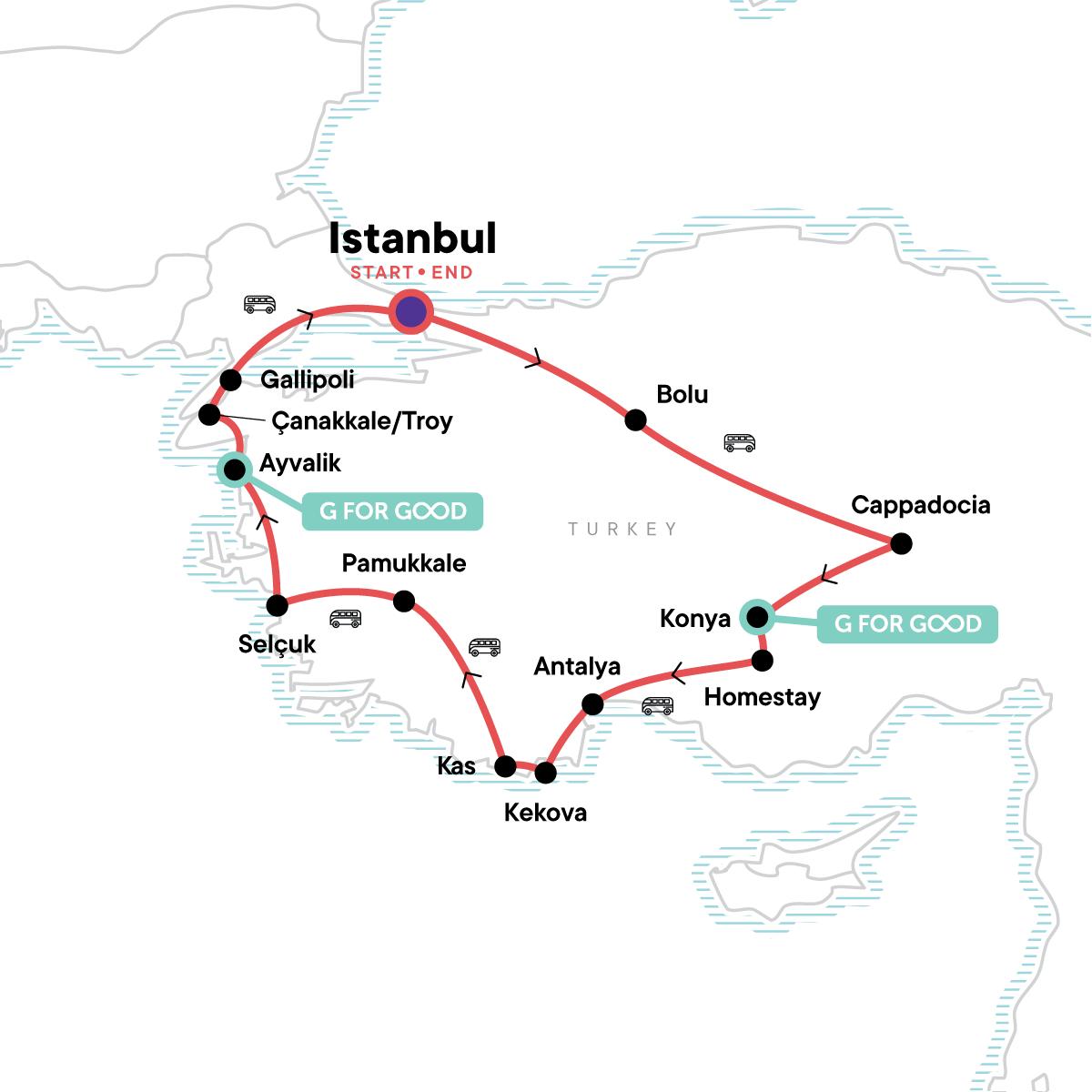 Absolute Turkey Map