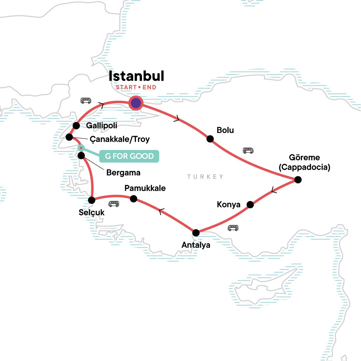 Absolute Turkey: Winter Map