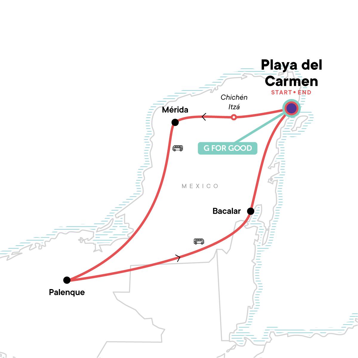 Mayan Highlights Map