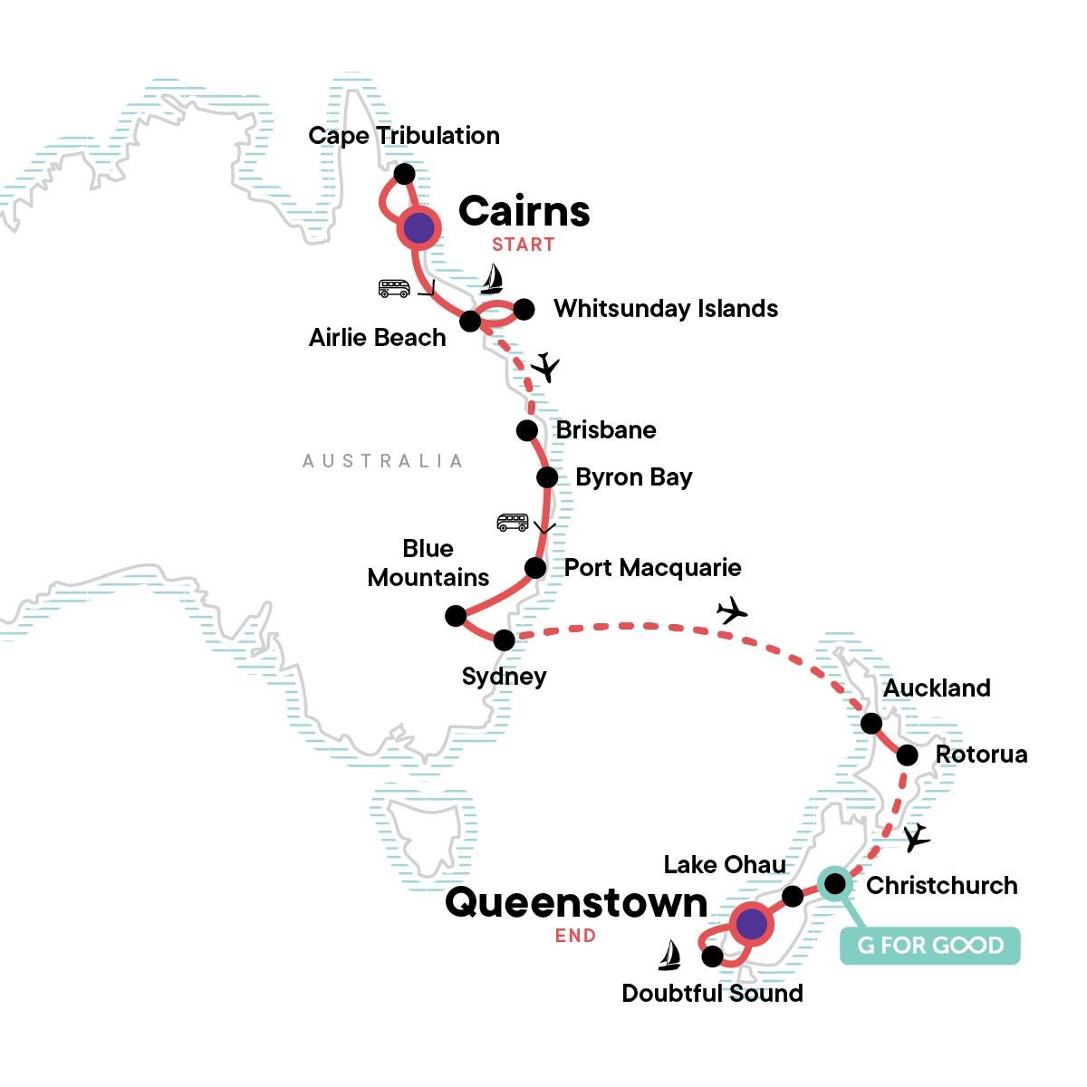 Australia & New Zealand Discovery Map