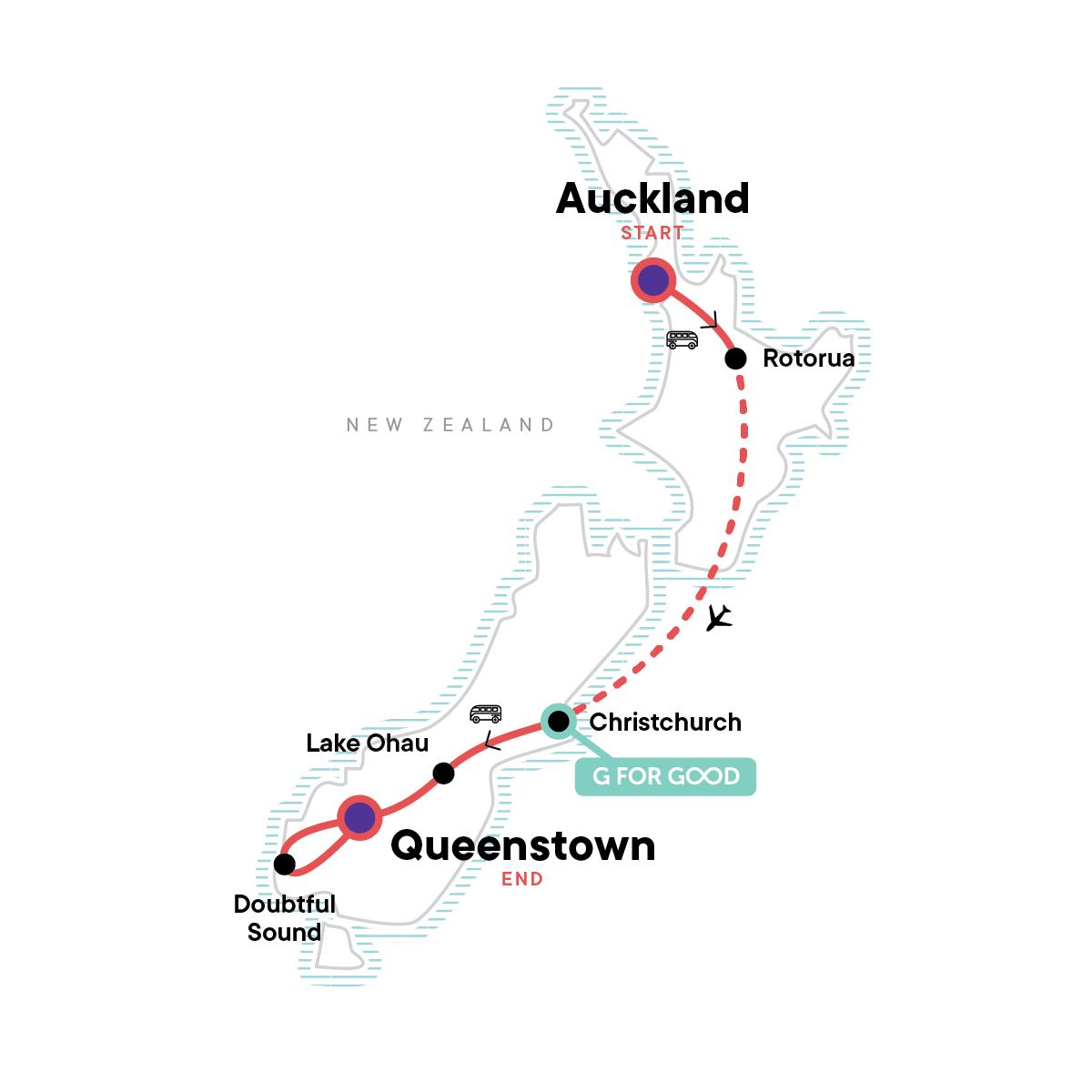 New Zealand Express Map