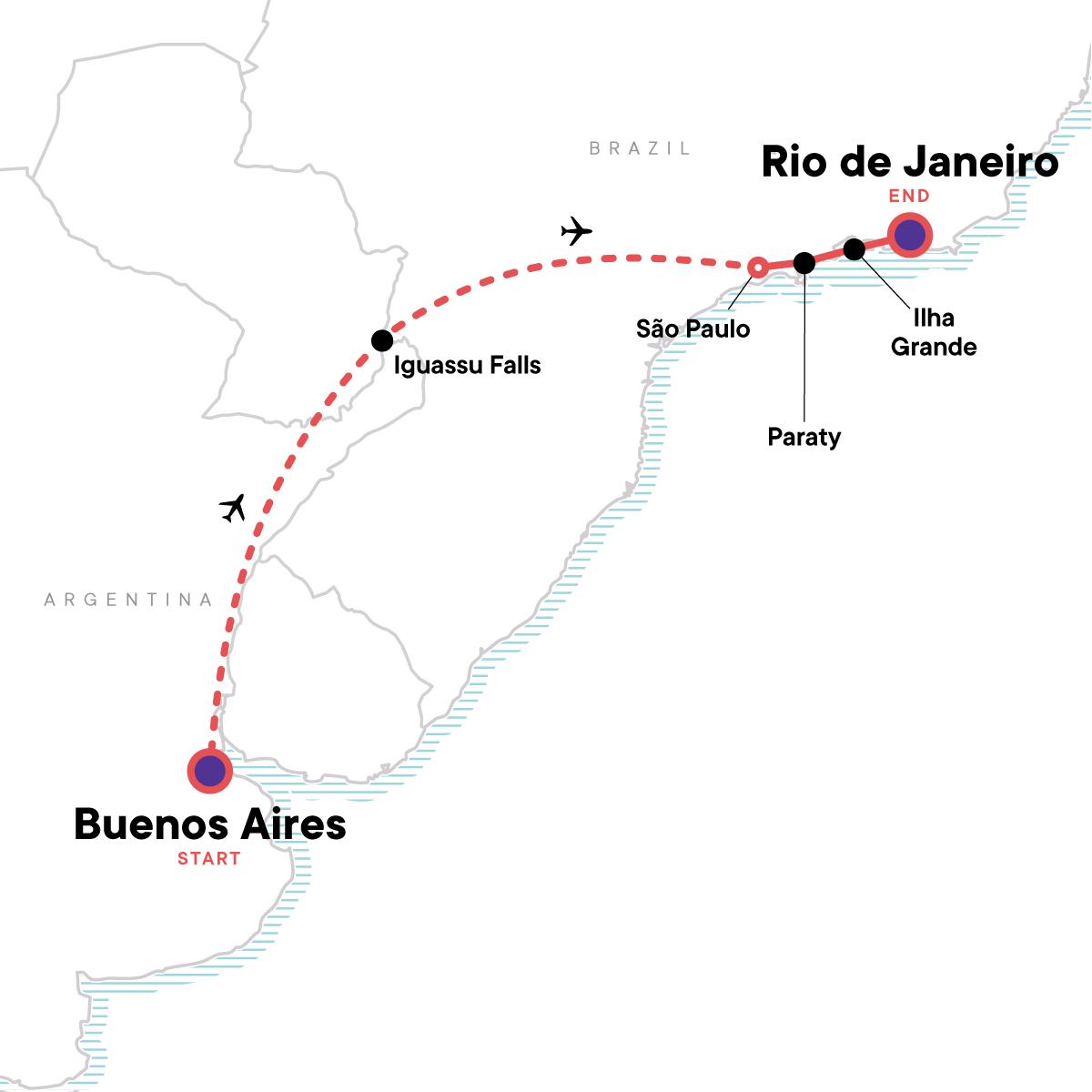 Iguassu & Beyond Map