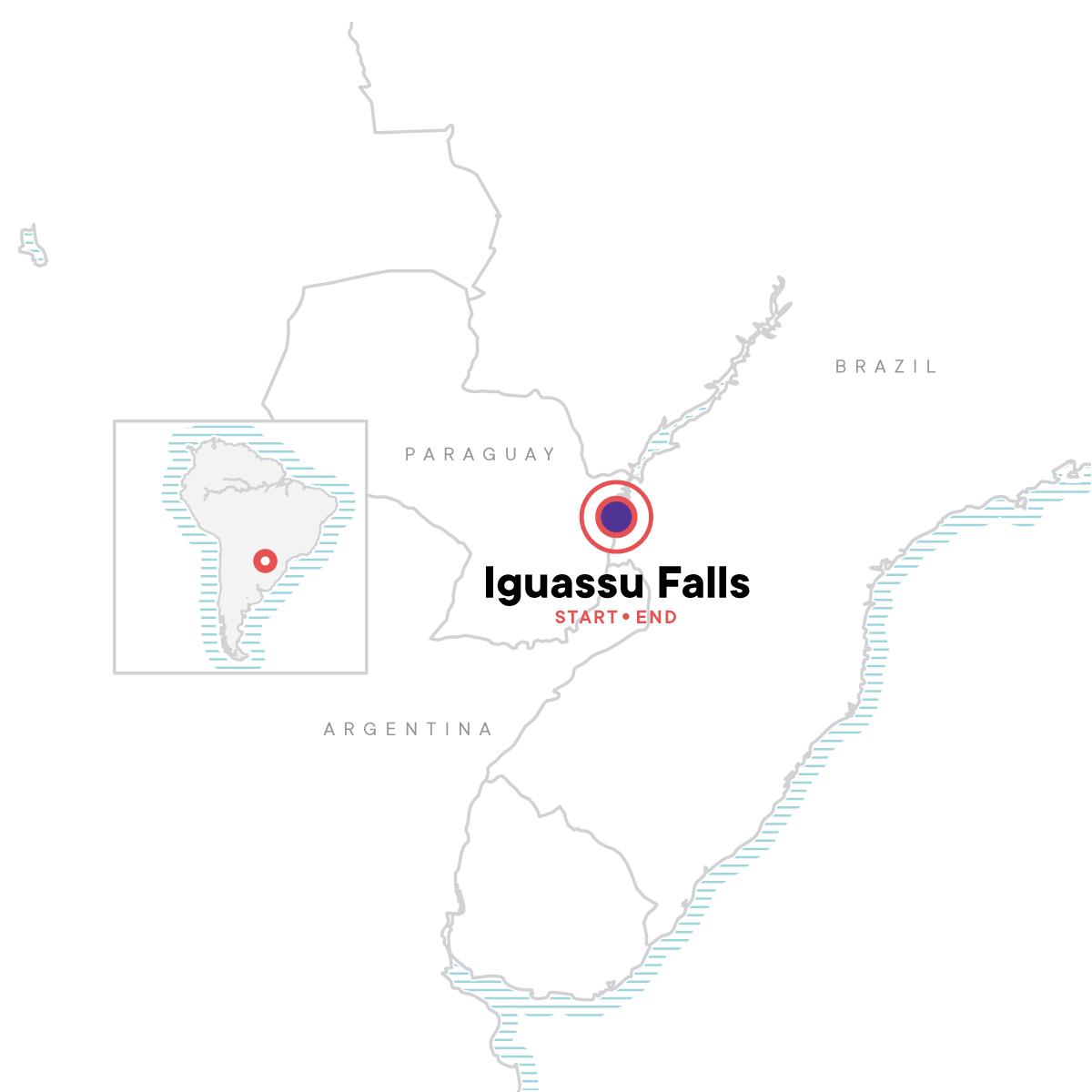 Iguassu Falls Independent Adventure - Upgraded Map