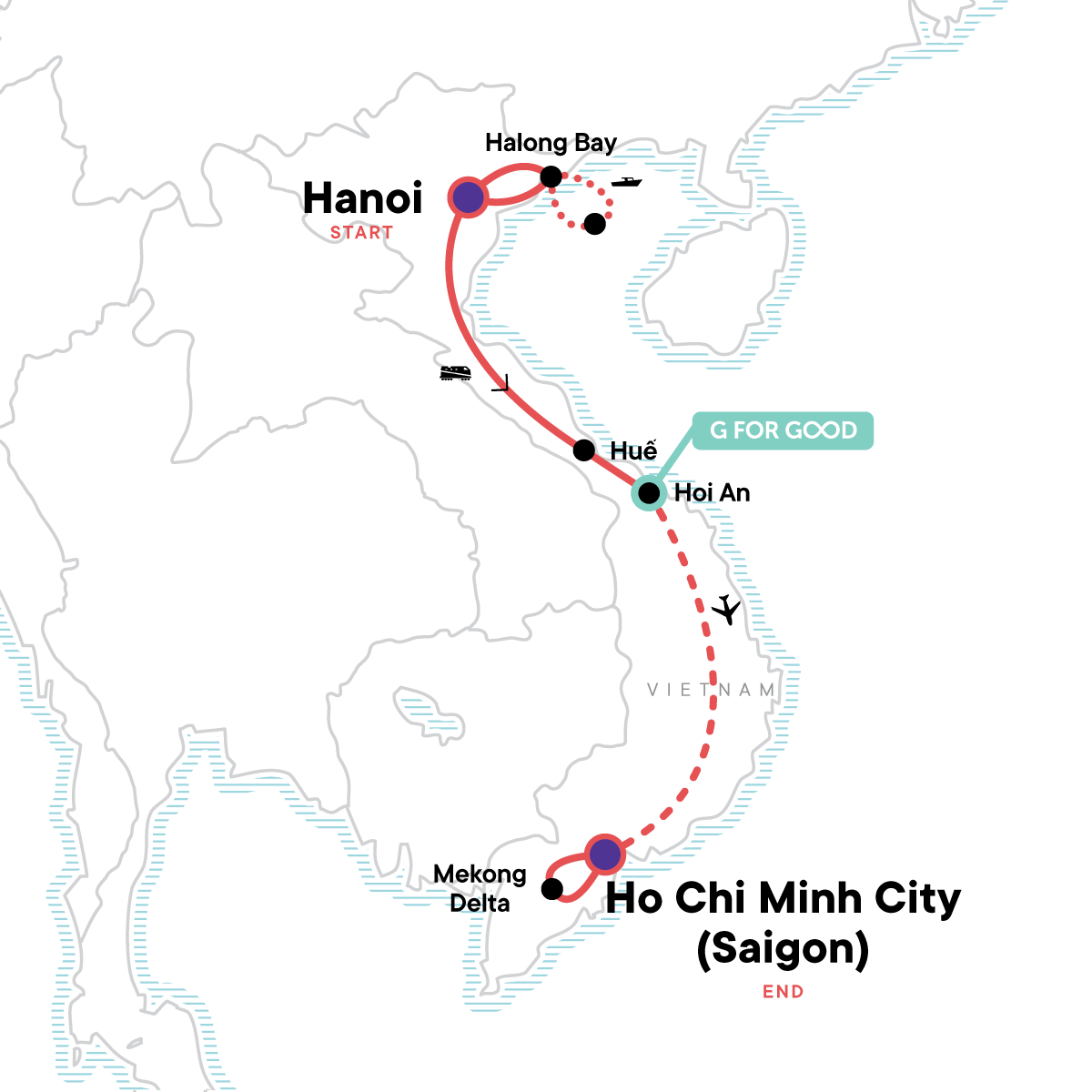 Vietnam Family Adventure Map