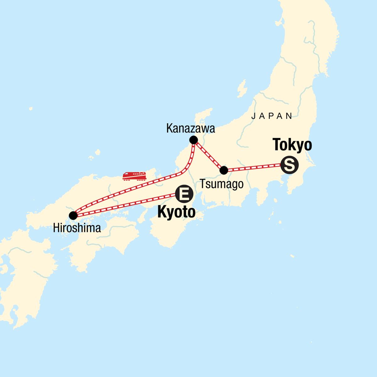 Iconic Japan Map