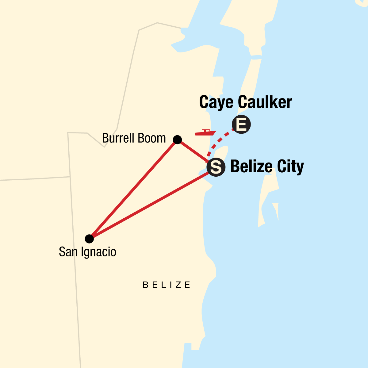 Explore Belize Map