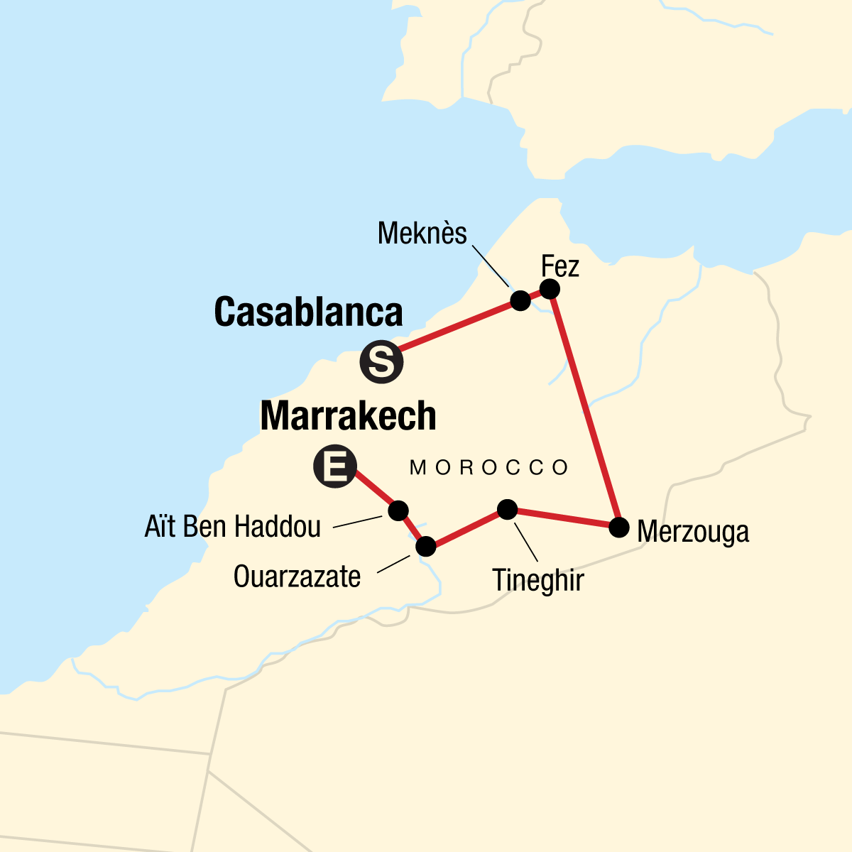 Morocco Journey Map
