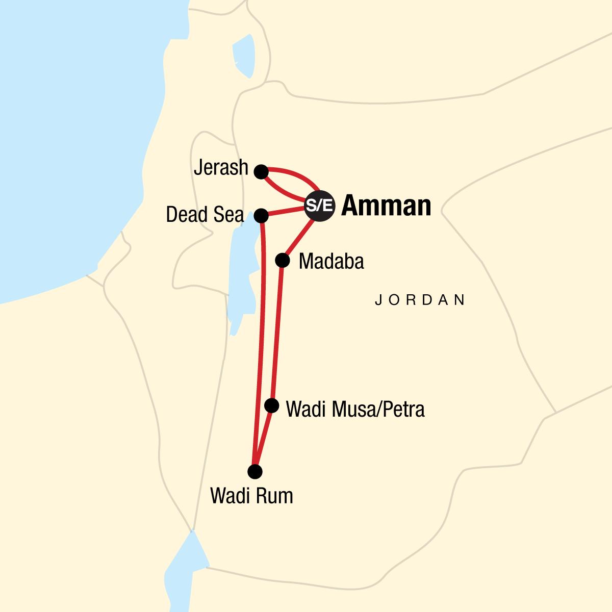 Explore Jordan Map