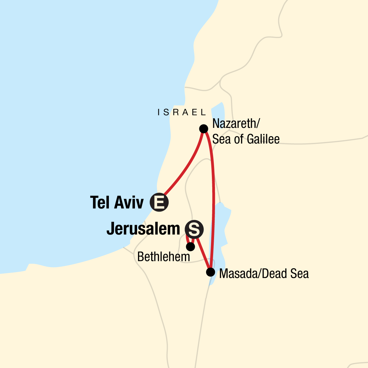 Israel and Beyond Map