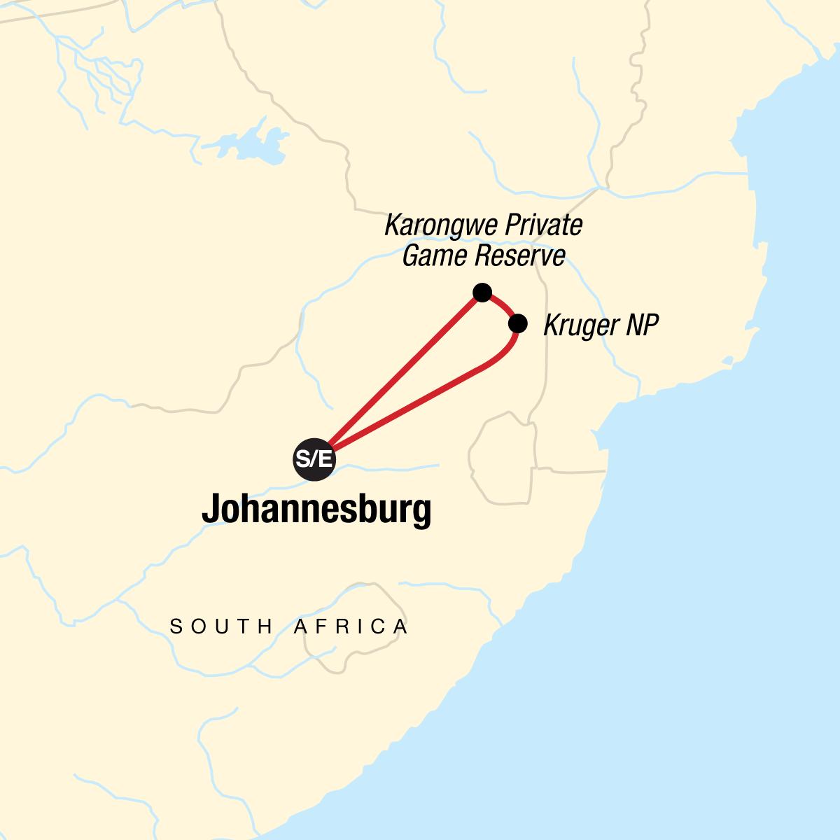 Explore Kruger National Park Map