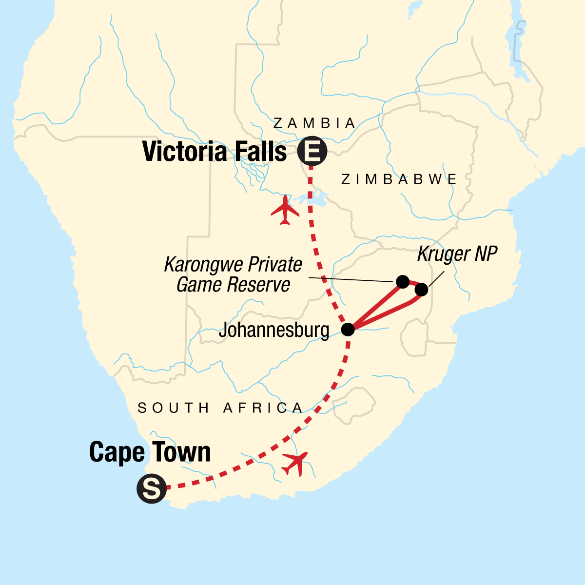 Explore Southern Africa Map