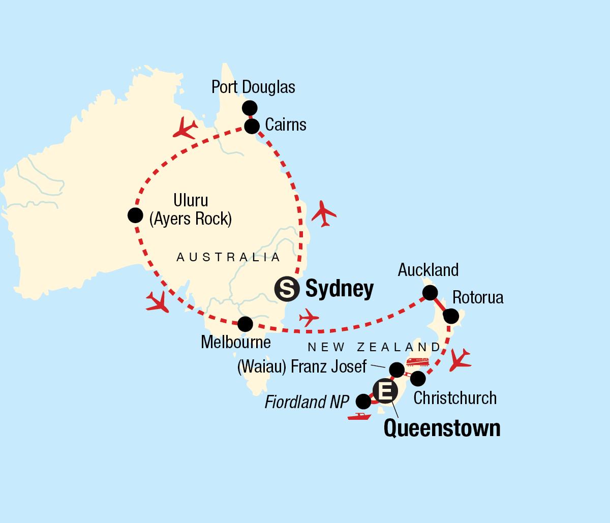 Explore Australia & New Zealand Map