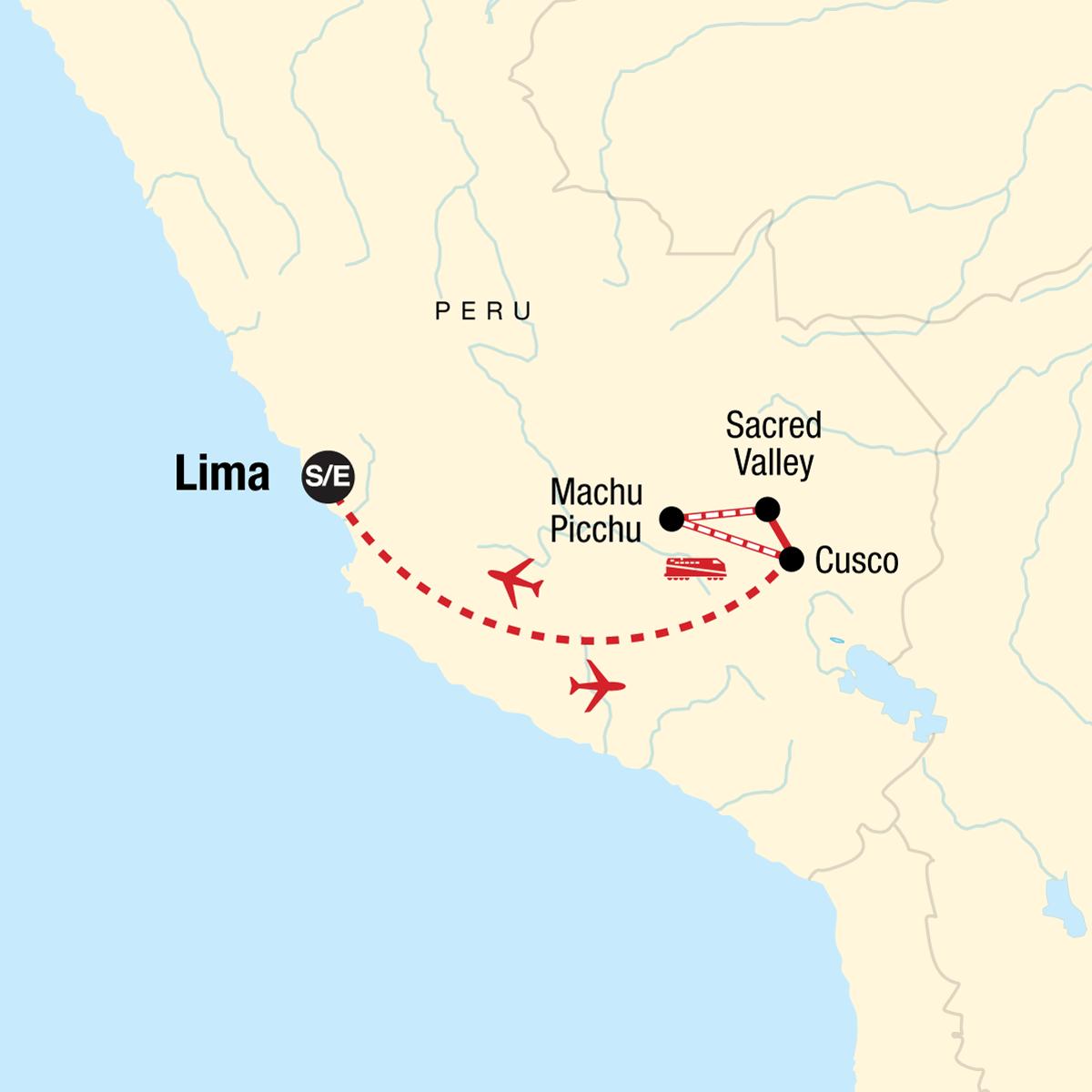 Explore Machu Picchu Map