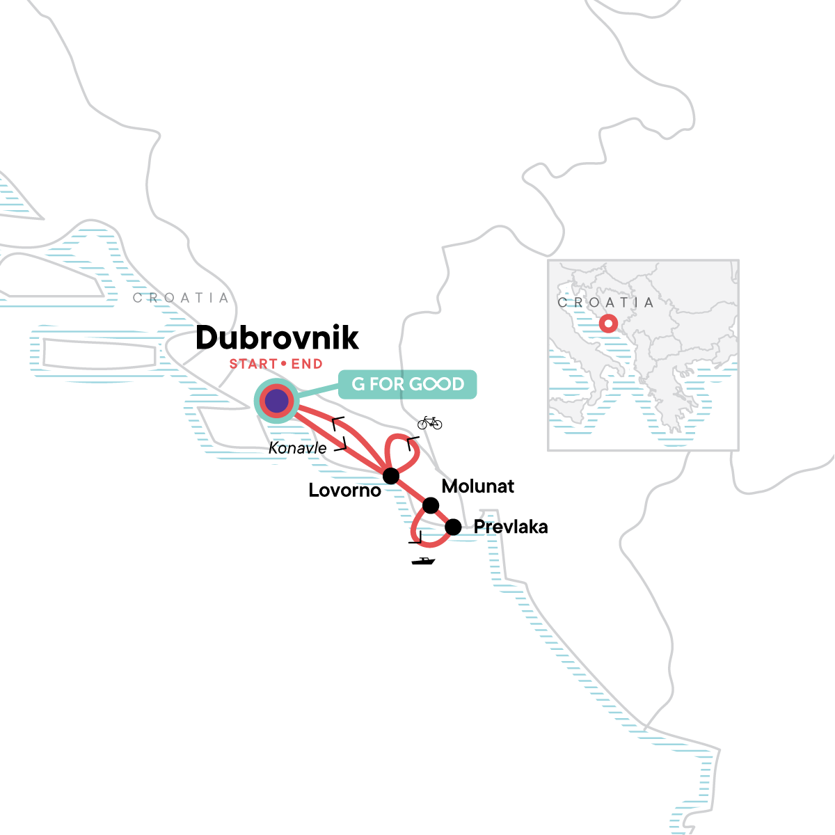 Local Living Croatia – Southern Dalmatia Map
