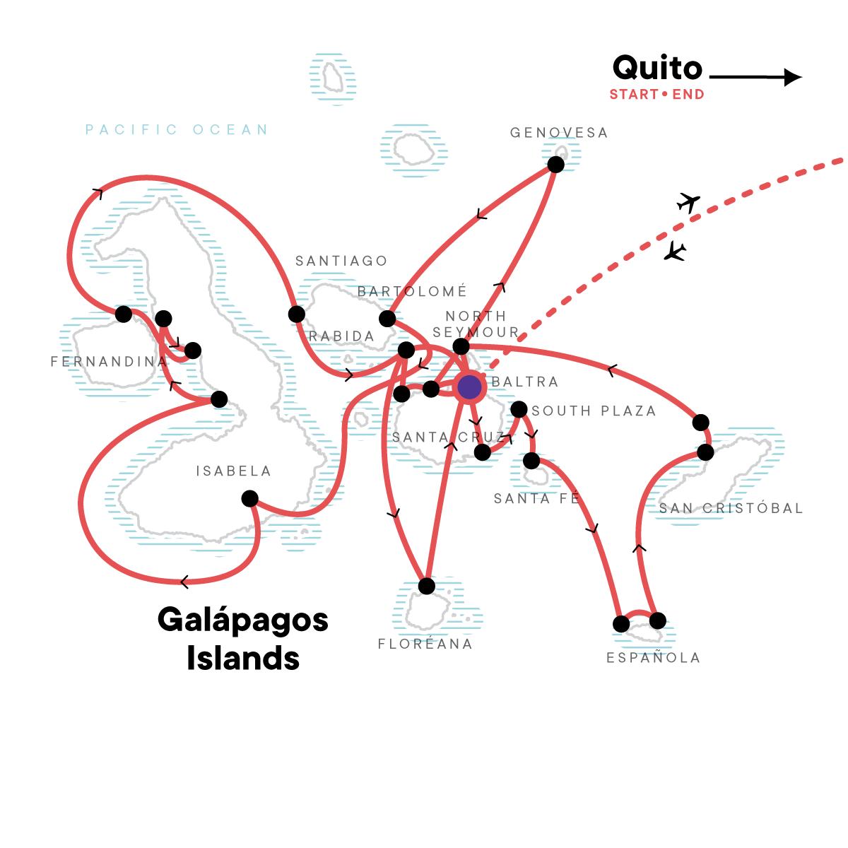 Complete Galápagos - Yolita Map