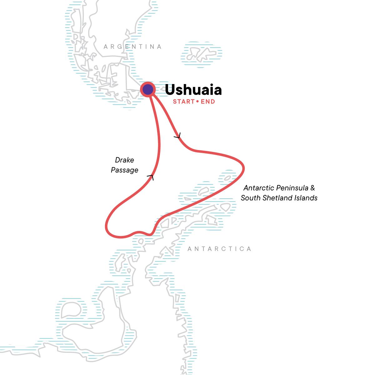 Antarctica Classic in Depth Map