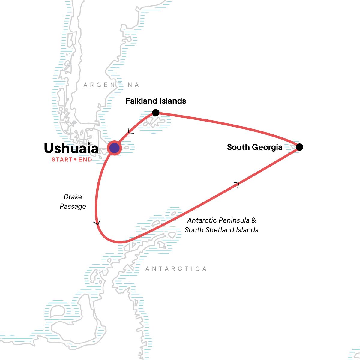 Spirit of Shackleton Map