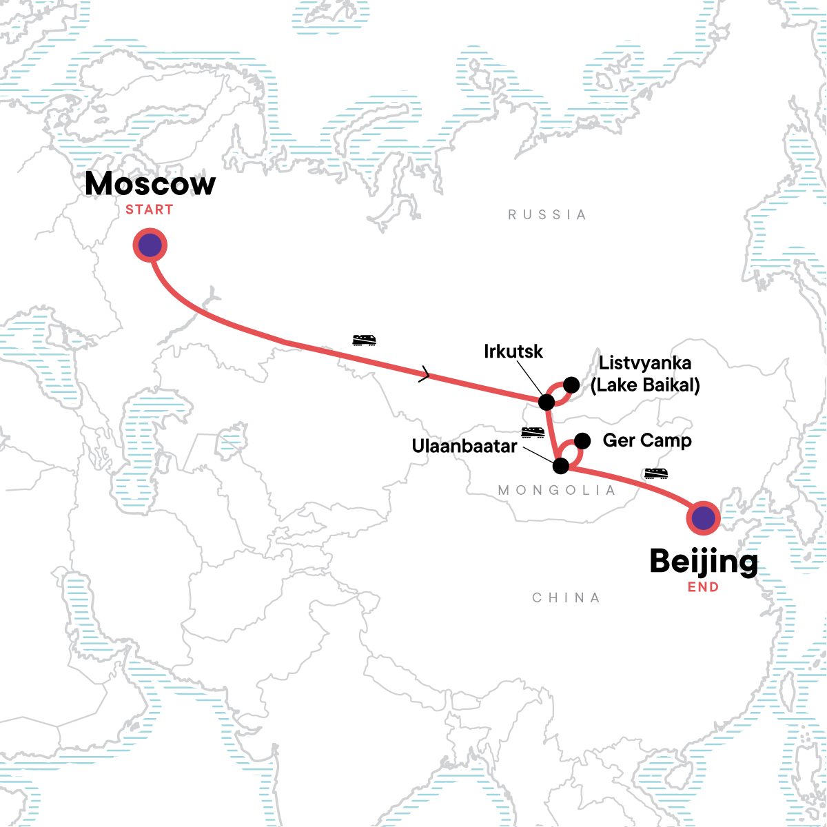 Trans-Mongolian Adventure Map