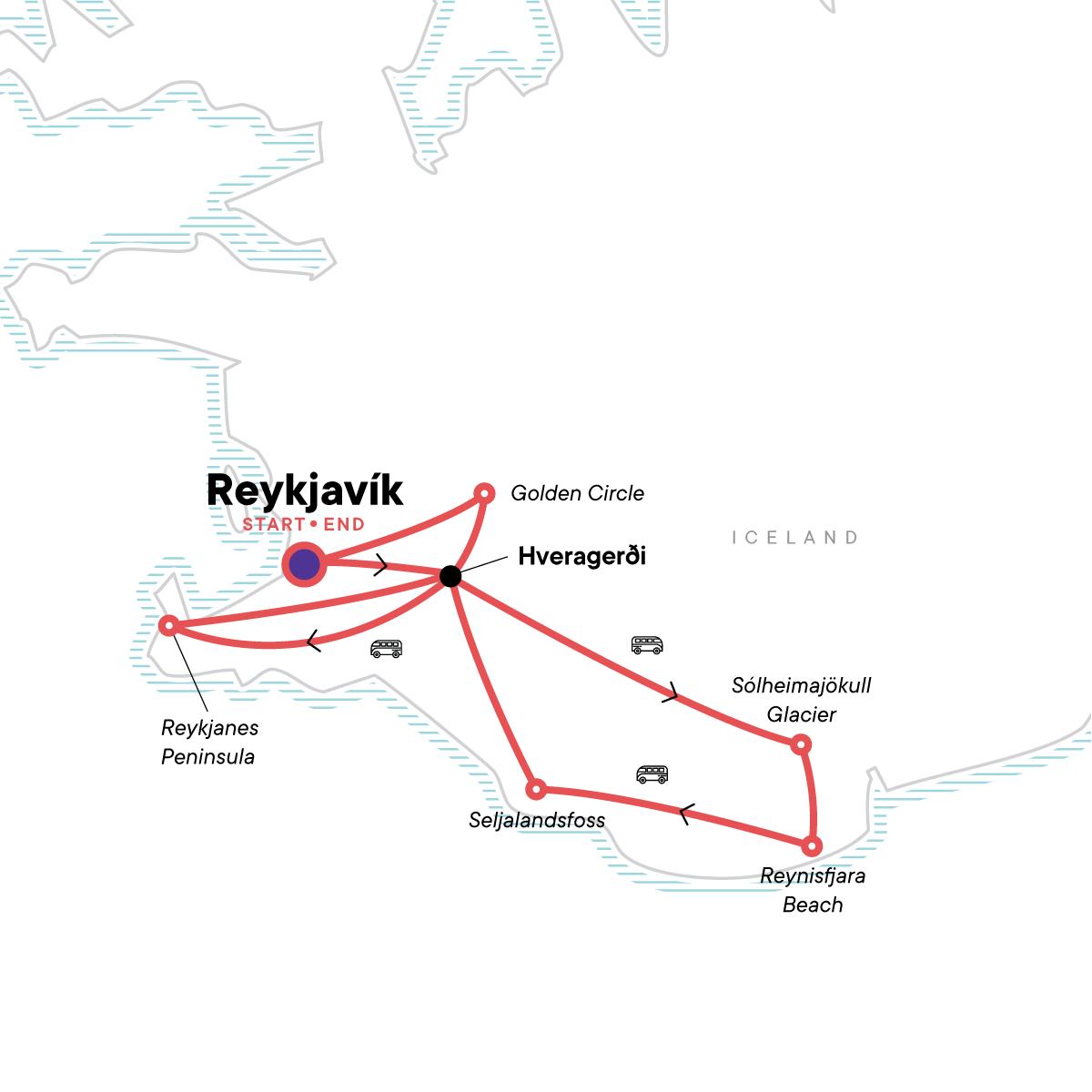Wellness Iceland Map