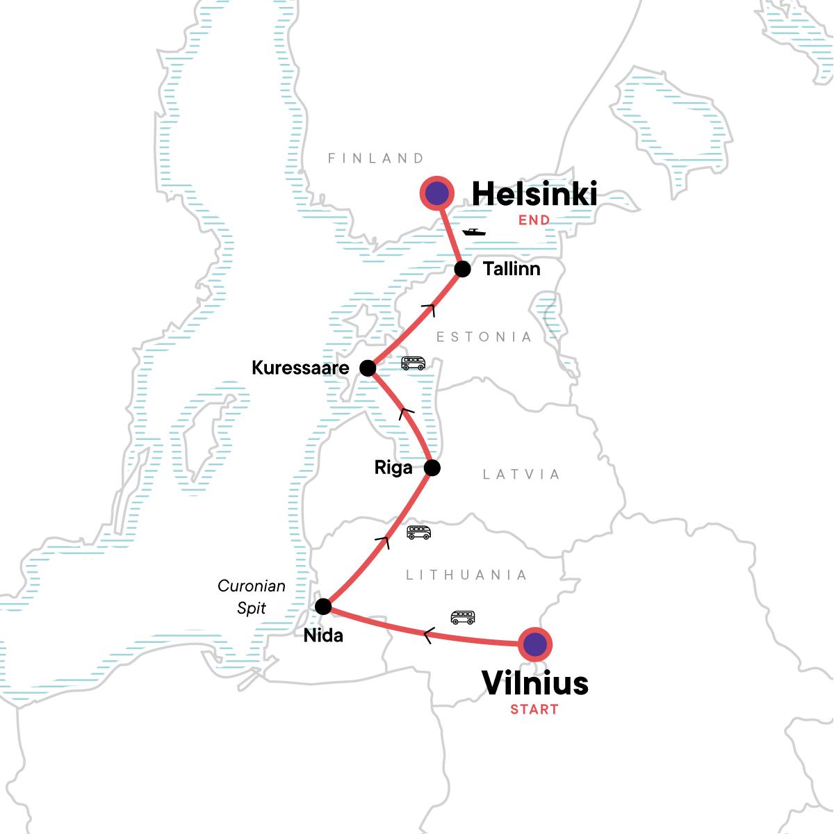 Baltic Adventure Map