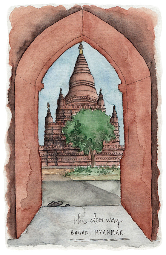 It's all in the details. Doorway in Bagan.