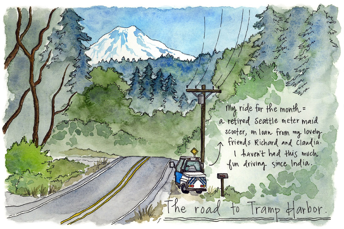 The road to Tramp Harbor.