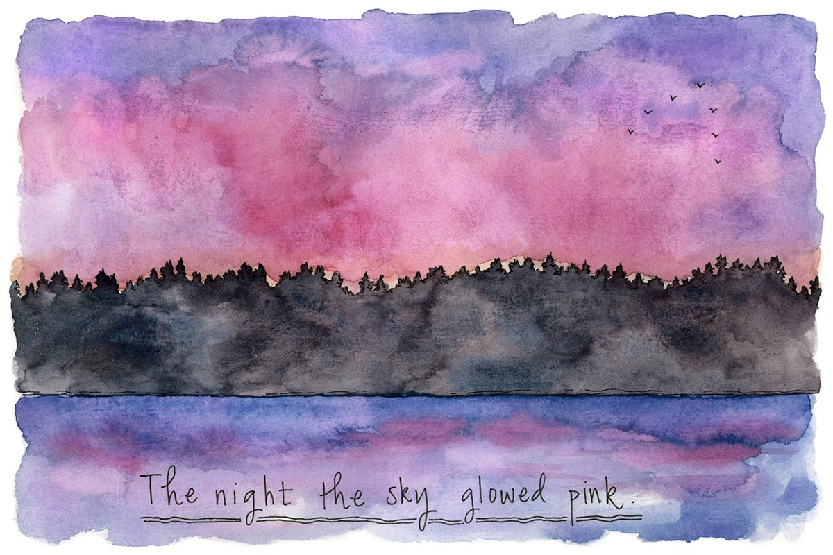 Pink skies and peaceful nights.