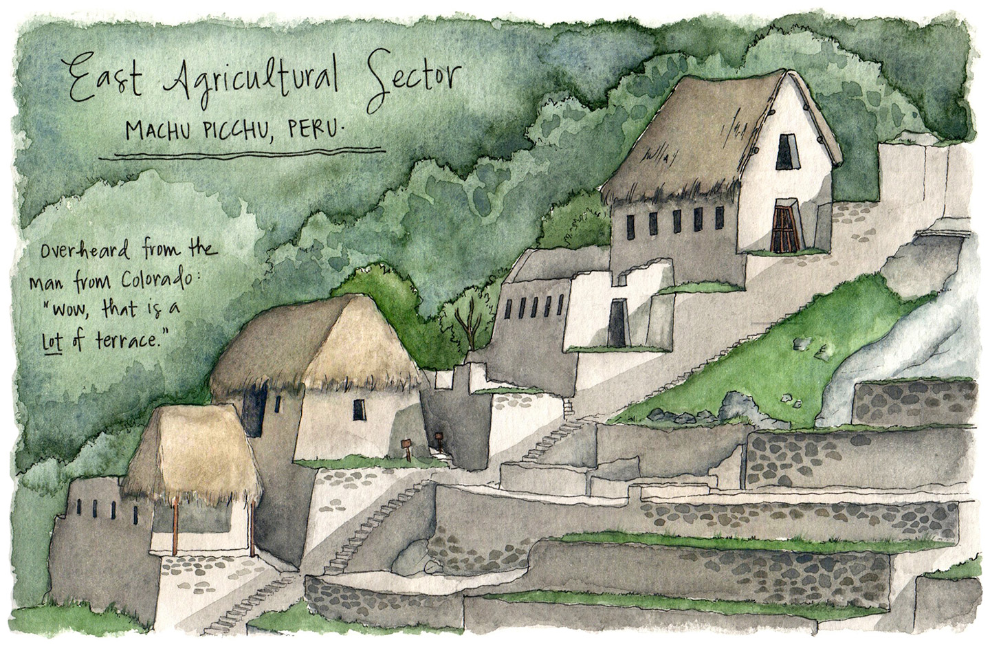 One final sketch of the Inca's sacred site.