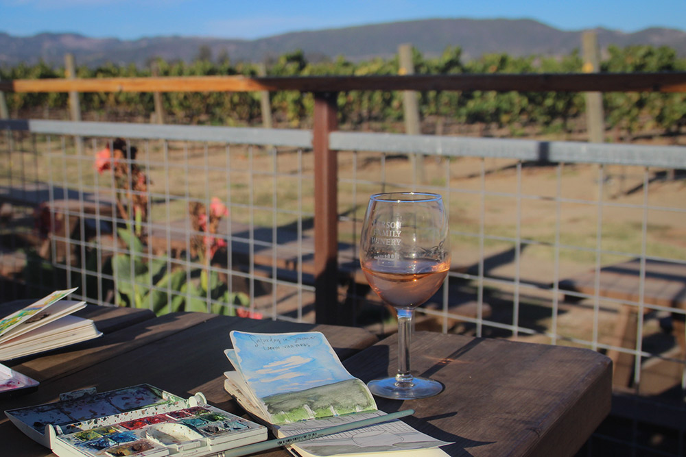A perfect afternoon on the patio of Larson Family Winery.