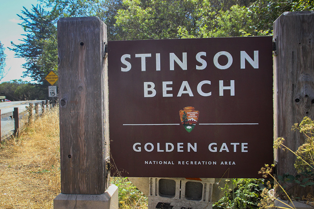 Arriving at Stinson Beach, just an hour's drive from San Francisco.